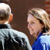 Bobbi Parker walks with her husband, Randy, outside the courthouse Tuesday afternoon while her jury deliberates inside. The first full day of jury deliberations began Tuesday, Sep. 20, 2011. after closing arguments were completed in the trial of Bobbi Parker late Monday night. The trial is in the Greer County Courthouse in Mangum, Okla. Photo by Jim Beckel, The Oklahoman