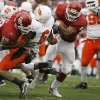 OU\'s Allen Patrick runs for a touchdown past Ricky Price of OSU during the first half of the college football game between the University of Oklahoma Sooners (OU) and the Oklahoma State University Cowboys (OSU) at the Gaylord Family-Memorial Stadium on Saturday, Nov. 24, 2007, in Norman, Okla. Photo By Bryan Terry, The Oklahoman
