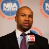 National Basketball Association Players Association president Derek Fisher speaks during a news conference after a marathon meeting with owners, Thursday, Nov. 10, 2011, in New York. Although no agreements have been reached, the two sides will meet again Thursday at noon in an effort to save what remains of the season after a protracted labor dispute engulfed the league. (AP Photo/John Minchillo) ORG XMIT: NYJM107