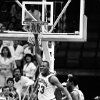 DOUBLE-CHECK WITH DOUG---MARCH 21, 1985. OU COLLEGE BASKETBALL: University of Oklahoma\'s Wayman Tisdale celebrates his game-winning shot against Louisiana Tech in Dallas during the NCAA tournament. (PHOTO BY DOUG HOKE/THE OKLAHOMAN)