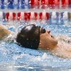 Swimming competitors warm up before competing during the NAIA Swimming and Diving National Championships at Oklahoma City Community College on Thursday, March 1, 2012, in Oklahoma City, Oklahoma. Photo by Chris Landsberger, The Oklahoman