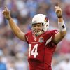 Photo - Arizona Cardinals quarterback Ryan Lindley(14) celebrates a running touchdown against the Detroit Lions during the first half of an NFL football game on Sunday, Dec. 16, 2012, in Glendale, Ariz. (AP Photo/Paul Connors)
