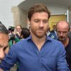 Photo - In this picture taken Thursday Aug. 28, 2014,  Real Madrid player Xabi Alonso leaves the office of a sports doctor after a check-up in Munich,  Germany. Bayern had said on Thursday it was close to inking the deal for the former Spanish international. The 32-year-old Alonso will help fill the void left by the injury to fellow Spaniard Javi Martinez.  (AP Photo/dpa/Peter Kneffel)