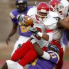 Western Heights\' Xavier McLaurin scores a touchdown over Northwest Classen\'s Isaiah Beverly during a high school football game at Taft Stadium in Oklahoma City, Thursday, September 20, 2012. Photo by Bryan Terry, The Oklahoman