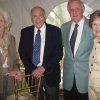 Jose Freede, Dr. Charles Freede, Ralph and Barbara Thompson were at the Symphony Show House where Jose Freede and daughters, Cathy Freede and Margaret Owens, entertained at the final dinner for the 2012 Symphony Show House. 150 guests toured the house and then enjoyed dinner in the air- conditioned tent set up outside. Jose Freede, a Show House supporter for the last 39 years, thanked the guests for attending. (Photo by Helen Ford Wallace0.