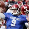 OU / UNIVERSITY OF OKLAHOMA / COLLEGE FOOTBALL: Trevor Knight (9) warms up before the annual Spring Football Game at Gaylord Family-Oklahoma Memorial Stadium in Norman, Okla., on Saturday, April 13, 2013. Photo by Steve Sisney, The Oklahoman
