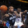 Orlando Magic\'s Jameer Nelson looks to pass the ball during the opening day NBA basketball game between the Oklahoma CIty Thunder and the Orlando Magic at Chesapeake Energy Arena in Oklahoma City, Sunday, Dec. 25, 2011. Photo by Sarah Phipps, The Oklahoman