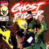 """The cover to """"Ghost Rider"""" No. 4 from 1990, featuring art by Javier Saltares. Marvel Comics"""