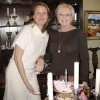 SUGAR AND SPICE....Mama Laura Cory and hostess Bette Jo Hill. (Photo by Helen Ford Wallace).