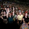 Fans cheer as the Flaming Lips perform during the