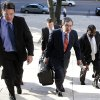Jeffrey Kessler, center, lead counsel for New Orleans Saints defensive end Will Smith, and former Saints\' Scott Fujita, left, and Anthony Hargrove, right, arrive for appeal hearings in the NFL\'s bounty investigation of the Saints football team, Monday, Dec. 3, 2012, in New Orleans. (AP Photo/The Times-Picayune, Ted Jackson) MAGS OUT; NO SALES; USA TODAY OUT