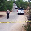 Photo - Riverside County Sheriff's deputies have closed Helen Lane Wednesday, July 10, 2013, in Menifee, Calif.  Authorities in Southern California searched for possible human remains Wednesday at the home of an 11-year-old autistic boy who disappeared over the weekend.  (AP Photo/The Press-Enterprise, Frank Bellino)  NO SALES; MAGS OUT; MANDATORY CREDIT