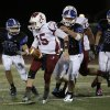 Ardmore\'s Clay Atwood (15) runs the ball during a high school football game between Deer Creek and Ardmore at Deer Creek Stadium in Edmond, Okla., Friday, Nov. 9, 2012. Photo by Garett Fisbeck, The Oklahoman
