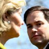 Sen. Kay Bailey Hutchison, R-Texas, left, and Sen. Marco Rubio, R-Fla., attend a news conference by Senate Republicans on Capitol Hill in Washington, Tuesday, March 27, 2012, on the second day of Supreme Court hearing on President Obama\'s health care legislation. (AP Photo/Jacquelyn Martin) ORG XMIT: DCJM101