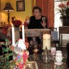 CELEBRATING THE BOOK...Guests were invited to Cindy Hazelwood\'s home for her mother\'s, M.J. Van Deventer\'s famous rum cake and a book signing of her newest book