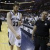 Memphis Grizzlies center Marc Gasol, of Spain, leaves the court following the Grizzlies\' loss to the Oklahoma City Thunder in Game 4 of a second-round NBA basketball playoff series on Tuesday, May 10, 2011, in Memphis, Tenn. Oklahoma City won 133-123 in triple overtime. (AP Photo/Wade Payne)