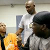 OKC Police Sgt. Wayland Cubit (center) talks with Kendrick Littleton and DeShaun Taft (right) at Northeast Community Services Center in Oklahoma City on Tuesday, May 12, 2009. Photo by John Clanton, The Oklahoman