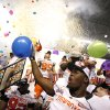 Oklahoma State celebrates their win over Arizona in the Valero Alamo Bowl at the Alamodome in San Antonio, Texas, Wednesday, December 29, 2010. OSU won, 36-10. Photo by Sarah Phipps, The Oklahoman