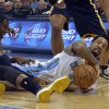 Photo - Denver Nuggets small forward Wilson Chandler grabs a loose ball against the Indiana Pacers during the third quarter of an NBA basketball game Saturday, Jan. 25, 2014, in Denver. (AP Photo/Jack Dempsey)