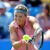 Photo - Victoria Azarenka from Belarus returns to Italy's Camila Giorgi  during the Aegon International at Devonshire Park, Eastbourne. England  Tuesday June 17, 2014. Giorgi won the match (AP Photo/John Walton/PA) UNITED KINGDOM OUT