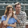 Photo - This image released by Disney shows Lake Bell, left, and Jon Hamm in a scene from the film,