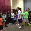 Clippers star Blake Griffin hosted some of the families impacted by the Moore tornadoes at the Lloyd Noble Center in Norman on Thursday, May 30. PHOTO BY JASON KERSEY, THE OKLAHOMAN KOD