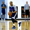 Photo - Caron Butler goes through shooting drills as he makes his first practice appearance with the Oklahoma City Thunder at the Oklahoma City Thunder practice facility in Oklahoma City, Okla. on Monday, March 3, 2014.  Photo by Chris Landsberger, The Oklahoman