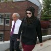 Photo - FILE - In this April 29, 2013 file photo, Katherine Russell, widow of Boston Marathon bomber suspect Tamerlan Tsarnaev, right, leaves the law office of DeLuca and Weizenbaum with Amato DeLuca, in Providence, R.I. Russell has hired New York lawyer Joshua Dratel, a criminal lawyer with experience defending terrorism cases, as she continues to face questions from federal authorities, her attorney Amato DeLuca said Wednesday. (AP Photo/Stew Milne, File)