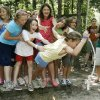 Girls use teamwork to reach goals during an obstacle course at Camp Endres, a diabetes camp held at Camp Classen in Davis, OK, Thursday, July 31, 2008. BY PAUL HELLSTERN, THE OKLAHOMAN
