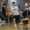 Oklahoma City Thunder\'s Steven Adams passes the ball to a teammate during an NBA summer league basketball game against the Detroit Pistons, Tuesday, July 9, 2013, in Orlando, Fla. (AP Photo/John Raoux) ORG XMIT: DOA116