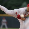 Photo - St. Louis Cardinals starting pitcher Lance Lynn delivers a pitch against the Colorado Rockies in the first inning of a baseball game in Denver on Monday, June 23, 2014. (AP Photo/David Zalubowski)