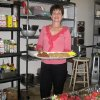 Owner Sheli Adler gets the food ready for a party. (Photo by Helen Ford Wallace).