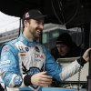 Photo - James Hinchcliffe smiles after taking his car for a practice lap for Indianapolis 500 IndyCar auto race at the Indianapolis Motor Speedway in Indianapolis, Thursday, May 15, 2014. (AP Photo/Darron Cummings)