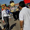The Sports Clips mascot entertains fans before game 3 of the Western Conference Finals of the NBA basketball playoffs between the Dallas Mavericks and the Oklahoma City Thunder at the OKC Arena in downtown Oklahoma City, Saturday, May 21, 2011. Photo by Chris Landsberger, The Oklahoman