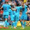 Photo - Tottenham Hotspur's Harry Kane, right, is congratulated by his teammates after scoring against West Bromich Albion during the English Premier League soccer match at The Hawthorns Stadium in West Bromwich, England, Saturday, April 12, 2014. (AP Photo/Rui Vieira)
