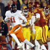 OSU\'s Shaun Lewis (11) returns an interception for a touchdown past ISU quarterback Jared Barnett (16) in the first quarter during a college football game between the Oklahoma State University Cowboys (OSU) and the Iowa State University Cyclones (ISU) at Jack Trice Stadium in Ames, Iowa, Friday, Nov. 18, 2011. Photo by Nate Billings, The Oklahoman