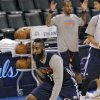 Oklahoma City\'s James Harden goes through drills during the NBA Finals practice day at the Chesapeake Energy Arena on Monday, June 11, 2012, in Oklahoma City, Okla. Photo by Chris Landsberger, The Oklahoman