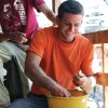 Photo - John Rambo washes pottery.	ORG XMIT: 0903201822421723