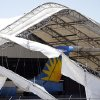 Hangar damage is pictured at Will Rogers World Airport in Oklahoma City, Saturday, June 1, 2013. Photo by Sarah Phipps, The Oklahoman