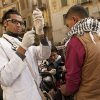 A volunteer doctor prepares an injection for a protester, wounded during clashes with security forces, at a field hospital in Tahrir Square in Cairo, Egypt, Thursday, Nov. 29, 2012. Members of an Islamist-dominated panel tasked with writing Egypt\'s new constitution are gathering to vote on the document\'s final draft in Cairo, where dozens of opposition supporters are still camped out at Tahrir Square. (AP Photo/Maya Alleruzzo) EGYPT OUT