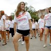 Norman High School senior Whitney Reinke, 17, dances with with a flash mob of other Norman High School students to the Michael Jackson song
