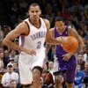 Oklahoma City\'s Thabo Sefolosha (2) leads a fast break during the NBA basketball game between the Oklahoma City Thunder and Phoenix Suns at Chesapeake Energy Arena in Oklahoma City, Saturday, Dec. 31, 2011. Photo by Nate Billings, The Oklahoman NATE BILLINGS