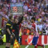 Photo - Atletico's Diego Costa, right,  is substituted, during the Champions League final soccer match between Atletico Madrid and Real Madrid, at the Luz stadium, in Lisbon, Portugal, Saturday, May 24, 2014. (AP Photo/Manu Fernandez)