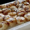 FOOD: A plate full of scallops is seen during the