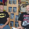 Jackson Compton, left, and Jerry Bennett discuss their comic book series