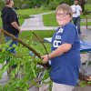 Photo of storm cleanup efforts at Andrews Park, 201 W. Daws in Norman on April 13, 2012. Photo by Carmen Forman.