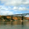 Photo - This undated photo provided by Walkway Over the Hudson shows the pedestrian bridge across the Hudson River in Poughkeepsie, N.Y. The bridge makes a nice seasonal outing on a visit to the Hudson Valley region just north of New York City. (AP Photo/Walkway Over the Hudson)