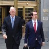 Photo - Defendant Paul Konigsberg, left, and attorney Reed Brodsky leave federal court in New York on Tuesday, June 24, 2014 after he pled guilty to conspiracy and two counts of falsifying books and records in a co-operation deal with the government. The 78-year-old Konigsberg, an accounting firm executive who worked for Bernard Madoff, told the court he was not aware of Madoff's