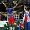 Czech Republic\'s Radek Stepanek celebrates after defeating SPain\'s Nicolas Almagro in their Davis Cup finals tennis singles match in Prague, Czech Republic, Sunday, Nov. 18, 2012. Czech Republic defeated Spain 3-2 and gained the Davis Cup trophy. (AP Photo/Petr David Josek)