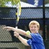 Metro\'s Mitchel Knight competes against Heritage Hall\'s Luke Howard during the 5A boys Oklahoma High School Tennis Tournament at the Oklahoma City Tennis Center in Oklahoma City, OK, Monday, May 14, 2012, By Paul Hellstern, The Oklahoman